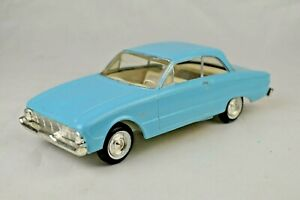 """AMT 1960 Ford Falcon Promo Model Painted Blue 7 1/8"""" Long Very Good Condition"""