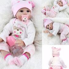 Lifelike Newborn Baby Girl Handmade Silicone Vinyl Reborn Baby Doll Xmas Gifts