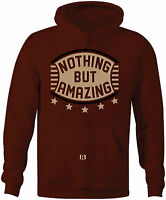 """NOTHING BUT AMAZING"" Hoodie to Match Foamposite One ""Night Maroon"" Gum Botttom"