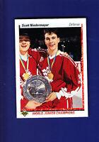 Scott Niedermayer RC HOF 1990-91 Upper Deck UD Hockey #461 (NM) Team Canada