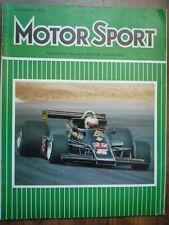 MOTOR SPORT DEC 1976 Japanese GP Alfa Romeo Ferrari 308 GTB VW-Cosworth V8