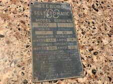 SEEBURG Model 100 C original data plate selectomatic 100 coin op jukebox arcade