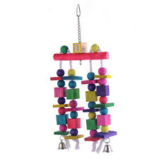 Parrot Bird Toys Quality Large Wooden Rope Cage Toys Aviary Ladder Swings Bells