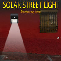 46 LED Lampe Solaire Lumière Mur Détecteur de Mouvement Murale Extérieure Jardin