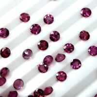 Wholesale Lot 3.5mm to 4.5mm Round Facet Rhodolite Garnet Loose Calibrated Gems