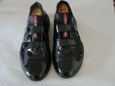 Prada mens size  black patent sneakers size 9