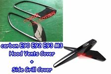Carbon Fiber Combo BMW 08~12 E90 E92 E93 M3 hood vents + Side Grill Cover ◎