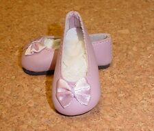Doll Shoes, 46mm LAVENDAR Slip ons for Ann Estelle, Others