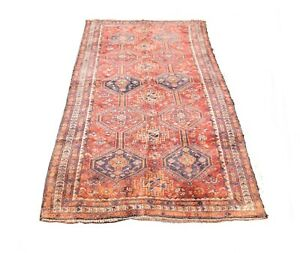 4'9'' x 9'7'' ft. Afghani vegetable dye hand knotted wool oriental rug