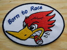 D056 ECUSSON PATCH THERMOCOLLANT BORN TO RACE customs hot rod chopper rockabilly