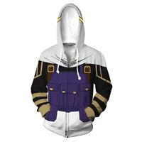 Boku no My Hero Academia Amajiki Tamaki Cosplay Hoodie Zipper Jacket Sweatshirt