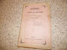1854.Lettres d'un Pélerin de Jérusalem.Eugène Boullier