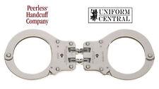NEW Peerless Hinged Handcuff 801 Nickel Finish w/ 2 Keys - Police - Corrections