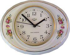 1492501f Keramik Küchenuhr Chippendale Rosen Goldrand mit Fehler Rabatt Funk