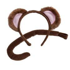 Alas, colas, orejas y narices color principal marrón para disfraces y ropa de época