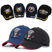 Men's USA Eagle Embroidery Baseball Cap Sport Adjustable Womens Golf Hat Cotton