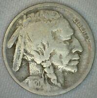 1920 D Buffalo Indian Head Nickel 5c US Coin Five Cents Good Denver K54