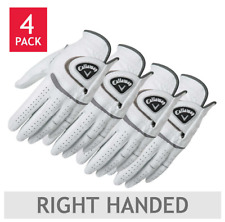 Mens Leather Golf Gloves Worn On Left Hand X-Large 4 Pack Right Handed Player
