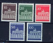 ALEMANIA/RFA WEST GERMANY 1966-1968 MNH SC.952/956 Brandenburg Gate