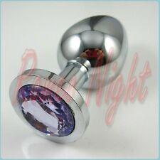 Plug Butt Random Color Metal Medium style rosebud Toys Stainless Steel Crystal M