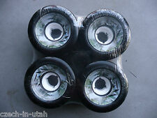 EIGHT (8) 65mm New Black Wheels - Boards On Nord (8 x 4 packs)