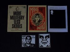 SHEPARD FAIREY OBEY postcard and stickers
