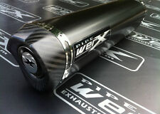 Triumph TT 600 2000 - 2003 Black Tri Oval Carbon Outlet Exhaust Can Silencer