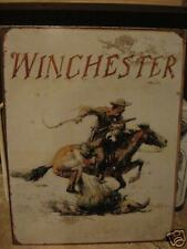 New Tin Sign- Winchester- Horse and Cowboy