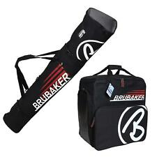 BRUBAKER Ski Bag Combo CHAMPION for Ski, Poles, Boots and Helmet - Black/Red