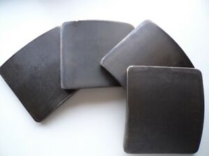 Titanium bulletproof plates for army body armor, original, 6.5 mm