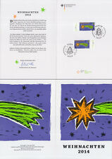 Ministerkarte 3.11.14 Weihnachten 2014, Stern von Bethlehem (2x MiNr.3108)