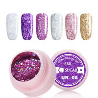 5ml UR SUGAR Soak Off UV Gel Polish Gose Gold Silver Nail Gel Varnish Manicure