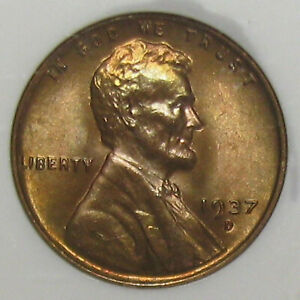 """Superb NGC MS-67 """"Red"""" 1937-D Lincoln Cent with Repunched Mint Mark (RPM-001)"""