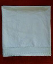 Ancien Drap Popeline Coton Blanc pour Lit Bébé