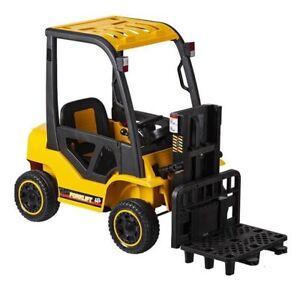 12V Forklift Electric Ride On Car - Yellow- Pre Order ETA 5th Nov