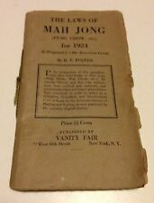 VTG Instruction Booklet - 1924 - MahJong Jong 45 pages Nice
