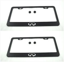2X Stainless Steel Black License Plate Frame Holder Screws For  Mercedes-Benz