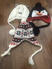 Girls Lot Hats Penguin Cat One Size