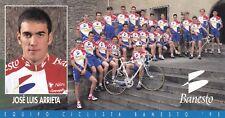 CYCLISME carte cycliste JOSE LUIS ARRIETA équipe  BANESTO 1995
