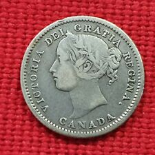 VICUSCOIN - CANADA - SILVER - 10 CENTS - QUEEN VICTORIA - YEAR 1858 VF