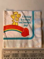 Vintage 1980 Care Bears Birthday Party Napkin, American Greetings