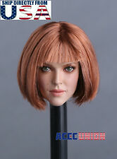 1/6 Female Head Sculpt D SHORT Hair For PHICEN Hot Toys Figure U.S.A. SELLER