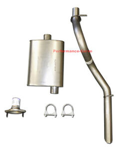 01 - 06 Jeep Wrangler Exhaust w/ Xlerator Big Max Turbo Muffler