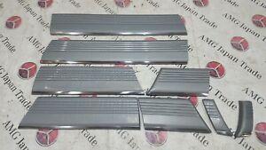 MERCEDES BENZ W126 SEL SIDE DOOR PANELS SKIRTS ORIGINAL GENUINE FULL SET