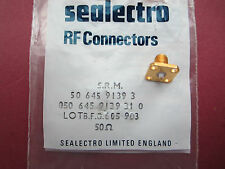 PROFESSIONAL SEALECTRO GOLD SMA FLANGE CHASSIS SOCKET 18GHZ 050-645-9139-31-0