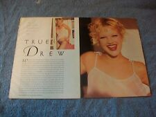 Actress and Model Drew Barrymore Clippings Article Pictorial