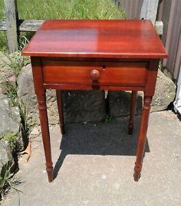 Antique Cherry One Drawer Stand 1870s Era
