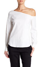 THEORY Ulrika Off The SHoulder Long Sleeve Blouse Sz S NWT $295