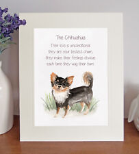 Chihuahua BESTEST CHUM Novelty Dog Poem 8 x 10 Picture/10x8 Print Fun Gift-No 2