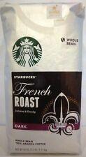 NEW STARBUCKS FRENCH ROAST DARK Whole Bean Coffee 40 Oz/2.5 LB/1.13kg >>FRESHEST